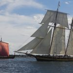 Pride of Baltimore II & Draken Harald Hårfagre Departing Redpath Waterfront Festival 2016